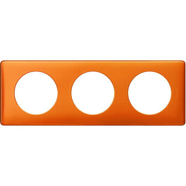 legrand celiane plaque 3 postes orange snake pas cher. Black Bedroom Furniture Sets. Home Design Ideas