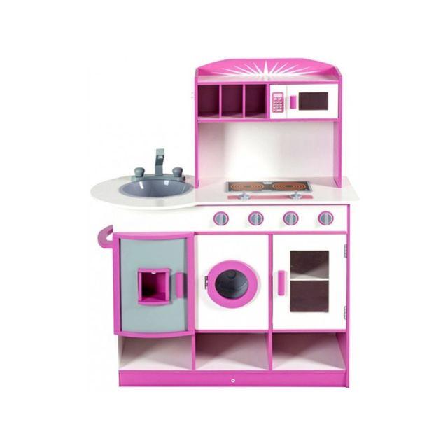 marque generique cuisine interactive en bois enfant avec frigo vier machine laver et. Black Bedroom Furniture Sets. Home Design Ideas