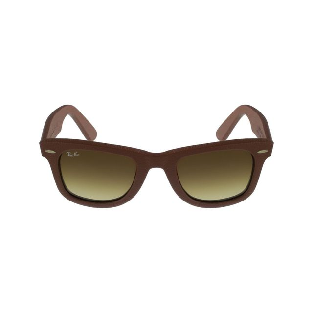 f13889eb83 Ray-Ban - Ray Ban - Wayfarer Leather Rb2140QM 1169 85 Marron - Lunettes.  Description  Fiche technique. Lunettes de soleil ...