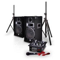 """MyDJ - Pack sono 2 enceintes 8"""" 150W + Table de mixage 2x75W + Pieds Mdj150BT"""
