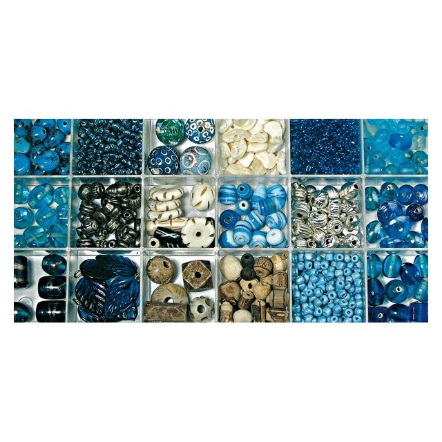 Rayher Perles Turquoise d'Inde Assortiment 240 g
