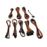 CABLEMOD - Kit de câbles gainés B-Series Straight Power – NOIR / ORANGE