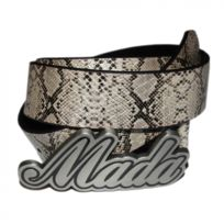 Mada - Ceinture Snake silver