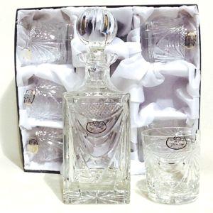 cristal de paris service 7 p whisky cristal gerard en coffret gris pas cher achat vente. Black Bedroom Furniture Sets. Home Design Ideas