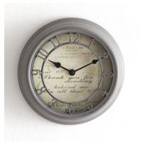 Jja - Horloge grise style romance 22 cm de diamètre