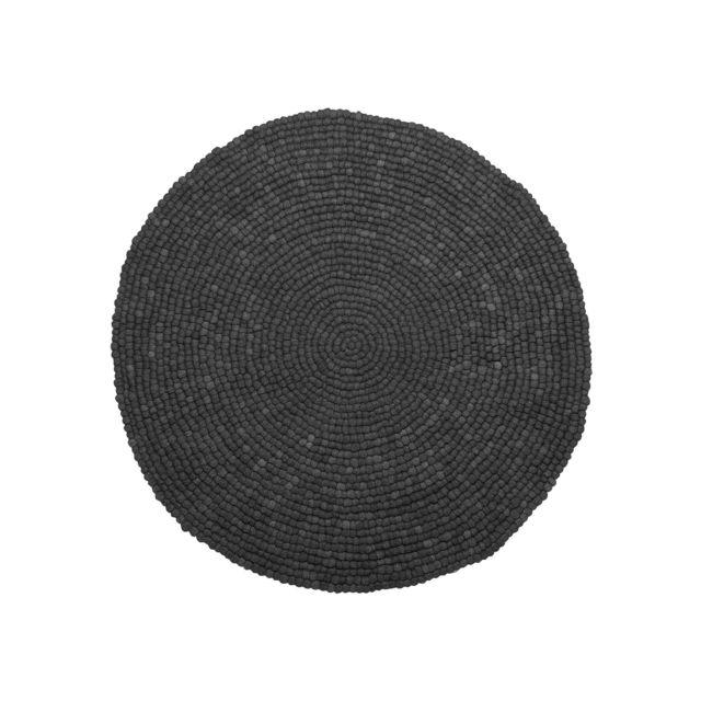 BELIANI Tapis rond en tissu gris foncé AMDO - coloré