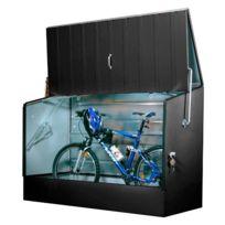 Trimetals - Abri vélos anthracite en métal 1,96x0,89x1,33 m - Abrivelos_ANTHRACITE