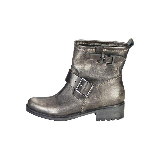 932aef78c2e324 Buzzao - Boots biker en cuir Logan - pas cher Achat / Vente Bottes femme -  RueDuCommerce