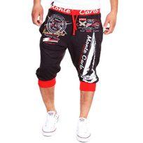 Cincjeans - Bermuda fashion homme Short 565 Gris et rouge