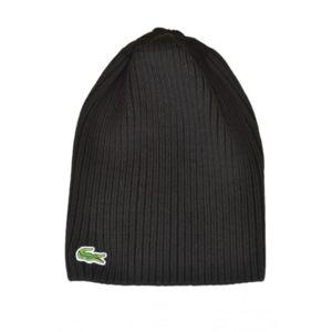 lacoste bonnet en laine c tel e noir pour homme pas cher achat vente casquettes bonnets. Black Bedroom Furniture Sets. Home Design Ideas