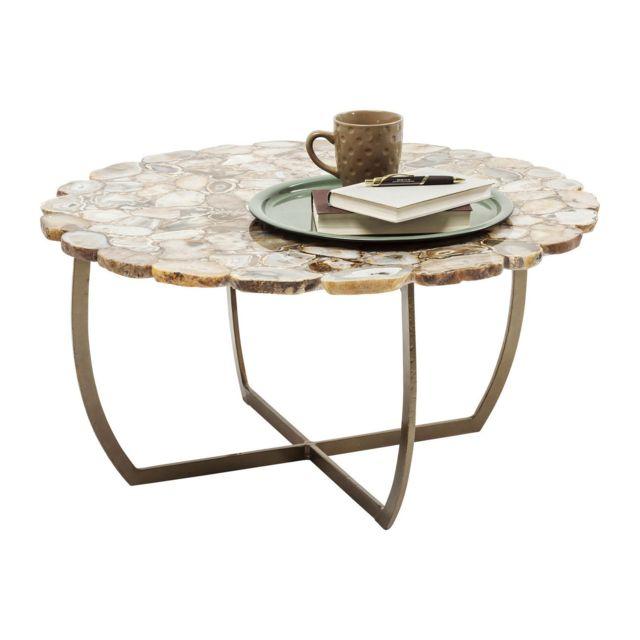 karedesign table basse tesoro beige 80cm kare design 80cm x 80cm x 40cm