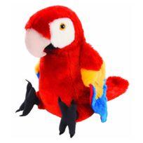 Wild Republic - Peluche perroquet rouge 30 cm