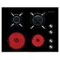 De Dietrich - Plaque mixte Dtg1115X 4 foyers Noir