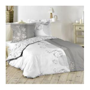 marque generique housse de couette et deux taies 240 cm bulles gris 240cm x 220cm pas. Black Bedroom Furniture Sets. Home Design Ideas