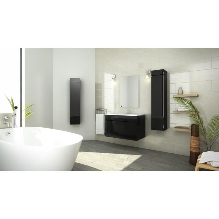 luna ensemble de salle de bain 80 cm noir pas cher achat vente rueducommerce. Black Bedroom Furniture Sets. Home Design Ideas