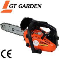 GT GARDEN - Tronçonneuse élagueuse thermique 25 cm3, 1.2 CV, guide 26 cm