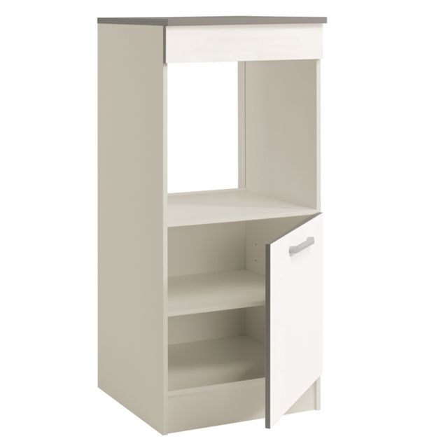 Last Meubles - Demi armoire four Ultra blanc brillant