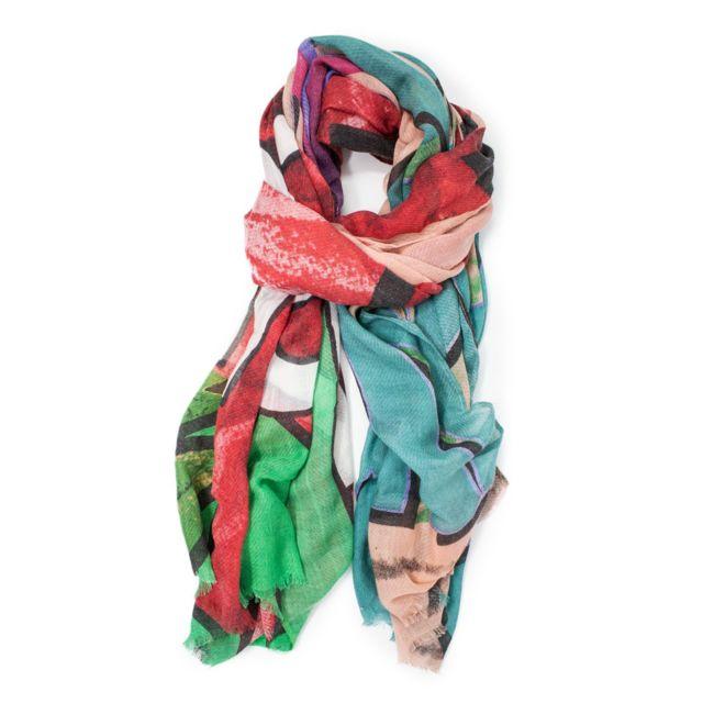 Desigual Femme 19WAWA24MULTI Rose Polyester Foulard