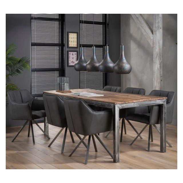 Mathi Design Grained - Table repas bois recyclé