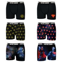 Dc Comics - Lot de 6 Boxers Homme Justice League
