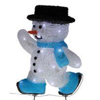 Blachere Illumination - Bonhomme de neige patineur