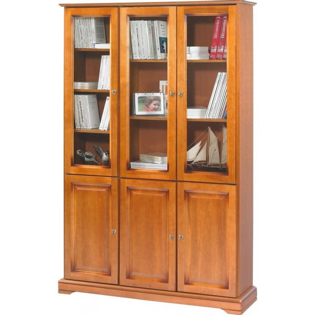 Beaux Meubles Pas Chers Meuble Bibliothèque Merisier 6 Portes