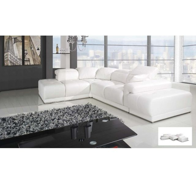 Chloe design canap d 39 angle benley convertible blanc for Chloe design canape