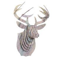 Cardboard Safari - Tête de Cerf en Carton Recyclé New York - Taille M