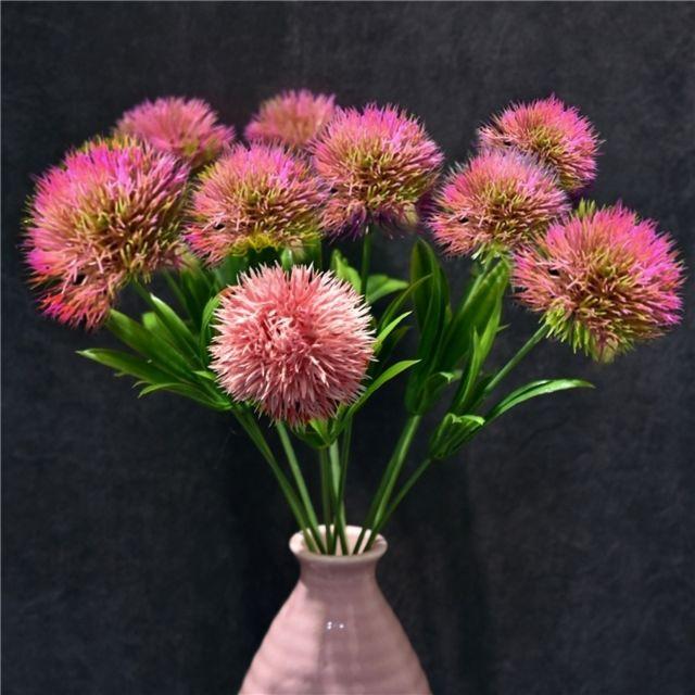 Wewoo Fleurs Artificielles 10 Pcs Pissenlit Fleur En Plastique Mariage Maison Valentine Décoration Rose