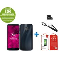 MOTOROLA - Moto G6 Bleu + Carte mémoire 32Go + Perche à selfie noire + Verre trempé