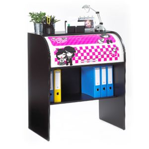 meuble informatique manga noir pas cher achat vente bureau rueducommerce. Black Bedroom Furniture Sets. Home Design Ideas