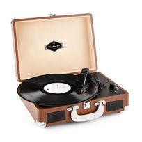 AUNA - Peggy Sue Platine vinyle rétro LP avec numérisation par USB -marron