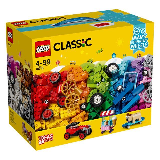 lego classic la bo te de briques et de roues 10715 pas cher achat vente lego. Black Bedroom Furniture Sets. Home Design Ideas