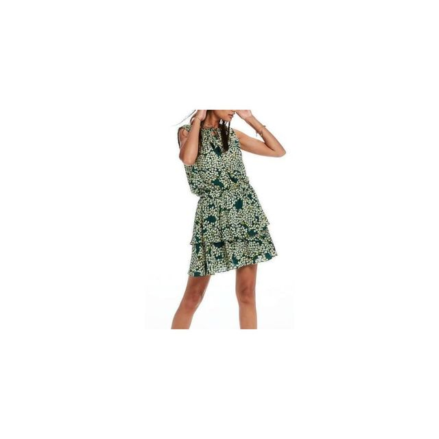 fb9e0d84bc0 Maison Scotch - Robe Vert multicolor 2 - pas cher Achat   Vente Robes -  RueDuCommerce