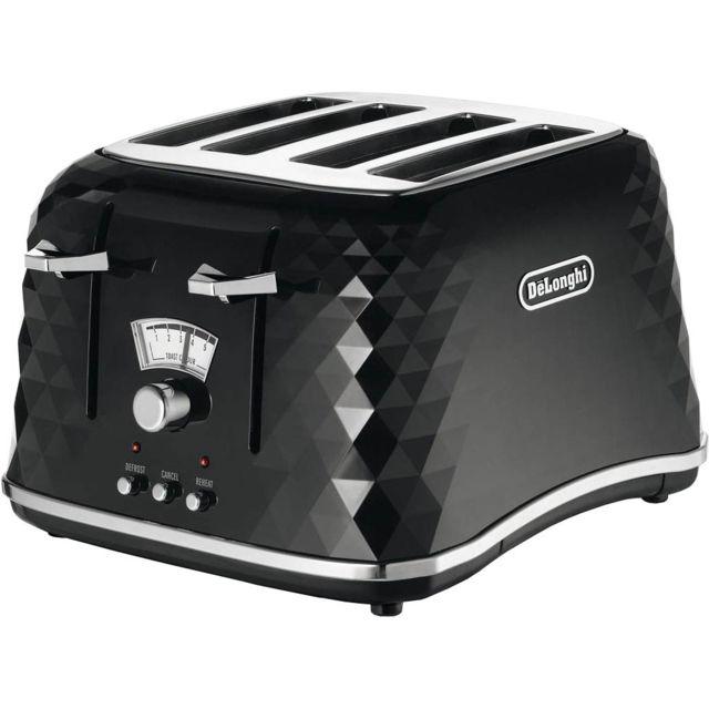 delonghi grille pain 4 tranches ctj4003bk noir pas cher achat vente grille pain. Black Bedroom Furniture Sets. Home Design Ideas