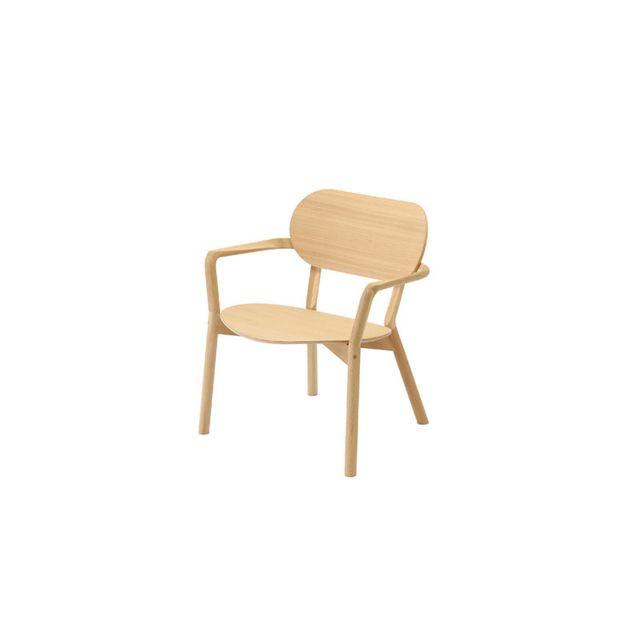 Karimoku New Standard Chaise Castor Low - Chêne