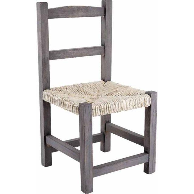 AUBRY GASPARD Chaise enfant en bois gris