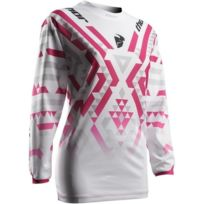 Thor - Maillot femme Pulse Facet Blanc Magenta