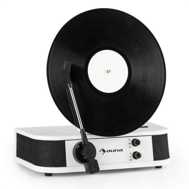 AUNA - Verticalo S Platine vinyle rétro verticale 3 vitesses USB MP3 - blanc