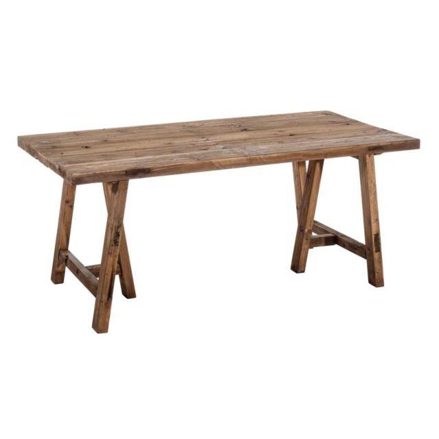 Tousmesmeubles Table de repas rectangulaire Bois - Ratri