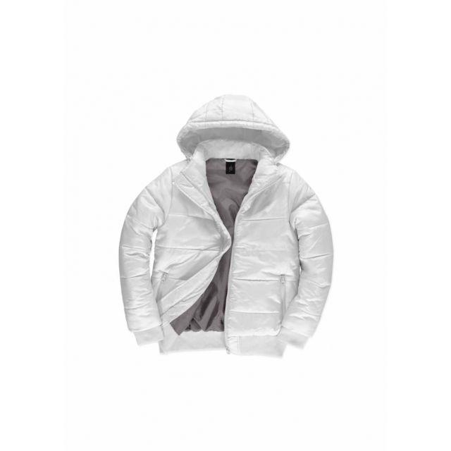 0780f7fa4 Doudoune à capuche amovible pour homme - JM940 - Blanc