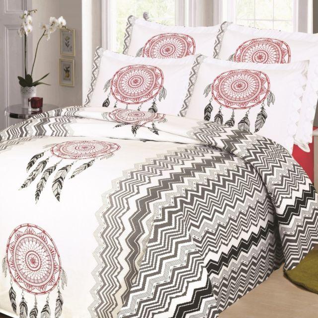 linge usine - parure de draps pour lit de 140x190 cm multicolore