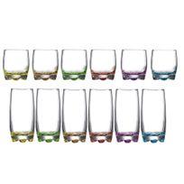 Novastyl - Service de gobelets en verre forme haute + basse multicolore - Adora