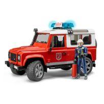 Bruder - Land Rover Defender Station avec Pompier