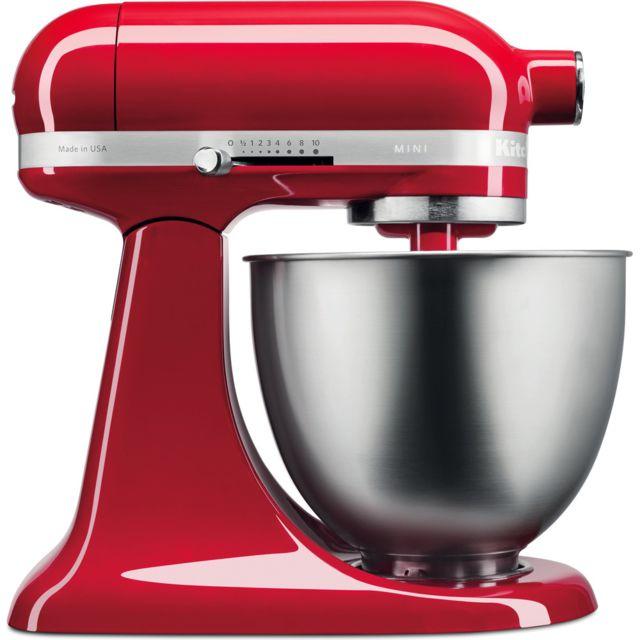 Kitchenaid robot multifonction de 3,3L 250W rouge empire argent