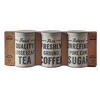 Mason Cash - Lot de 3 pots de cuisine en aluminium pour le thé/café/sucre Baker Street