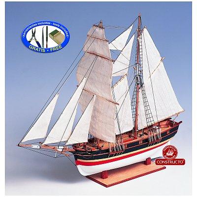 Maquette bateau en bois : Santa Helena