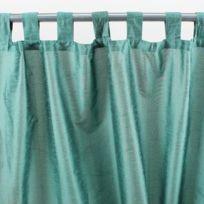 MonbeauRideau - Rideau à pattes Solene 140x250cm, Vert Celadon • Soie polyester