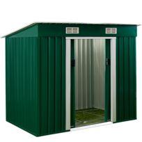 Rocambolesk - Superbe Abri de jardin en métal / Cabane à outils / incl. fondation - avec ventilation 3,35m³ Neuf