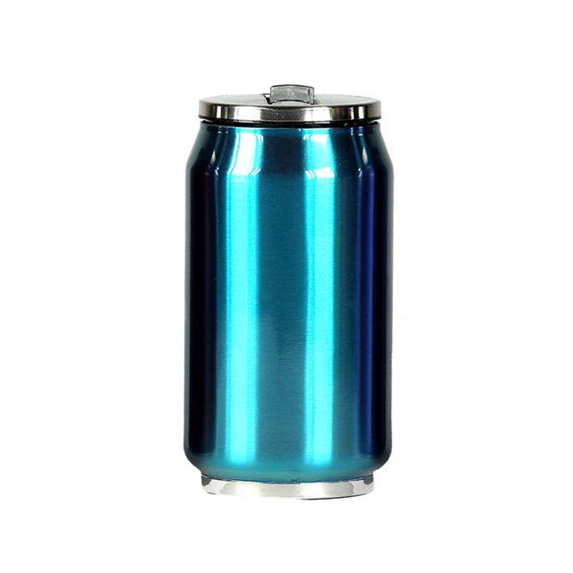 YOKO DESIGN Mug canette isotherme inox 280 ml - Bleu